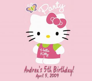 Hello Kitty Birthday Party Ticket Invitations Favors UPRINT Option
