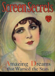 SCREEN SECRETS jun 1929 MAG billie dove greta garbo lon chaney johnny