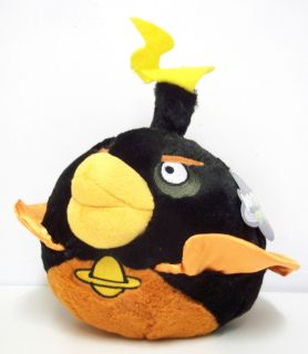 Bomb Black Bird Plush Soft Toy Angry Birds Space 6 inch New with Tag