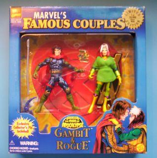 Marvels Famous Couples Gambit Rogue x Men C 1997 Toy Biz NIP