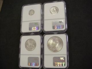 binion hoard silver uncirculated type set ngc rare