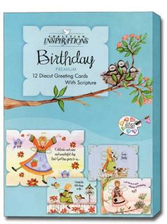 Everyday Angels Box of 12 Scriptured Birthday Cards with Envelopes