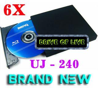 UJ 240 6X Blu Ray Burner Writer BD RE USB External Slim DVD RW Drive