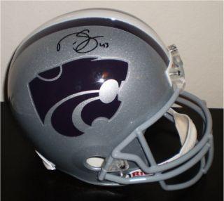 Signed KSU Kansas State Wildcats Full Size Helmet COA