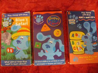 Lot 6 VHS Blues Clues & 3 Bear Big Blue House videos PHOTOS