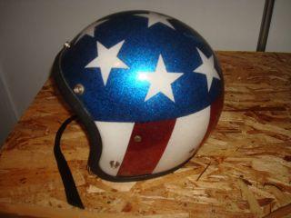 Vintage LSI 4150 Motorcyle Helmet Stars Knievel Capt. America Easy