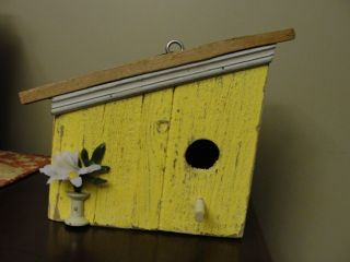 Wooden Bird House Beautiful Handmade Birdhouse from Long Island Local