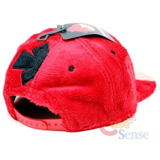 Rovio Angry Birds Plush Flat Bill Cap Red Bird Hat Teen to Adult