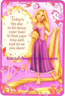 Disney Tangled Rapunzel Birthday Greeting Card Stickers