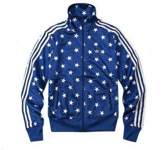 Adidas Women Firebird Blue Star Track Top Jacket M