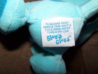 Nickelodeon Viacom Blues Clues 7 Soft Plush Blue Puppy Dog VGC