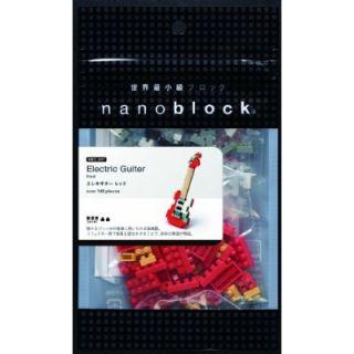Nano Block Mini Collection Series NBC 037 Electric Guitar Red 130pcs