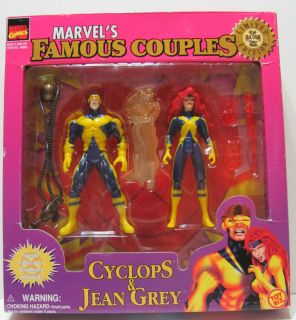 Toy Biz Marvels Famous Couples Cyclops Jean Grey 2 Pack