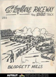 1969 Skyline Blodgett Mills NY Modified Modern Stock Car Race Program