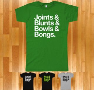 Joints BLUNTS Bowls BONGS T Shirt 420 Cannabis Marijuana Pot Weed s