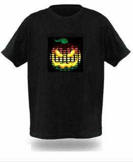 Dancing Black Music Sound Activated El Equalizer DJ Disc LED T Shirt