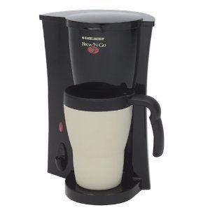 Black & Decker Brew n Go Personal Coffeemaker Coffee Maker Travel Mug