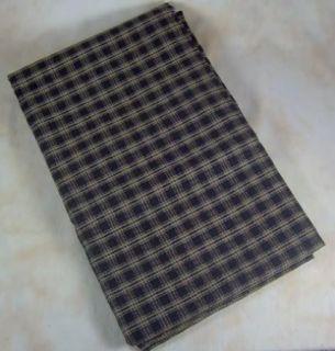 Country Black Tan Plaid Sturbridge Cotton Table Cloth 54x54