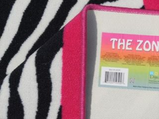 wild black white pink zebra carpet rug bedroom bath dorm kid teen
