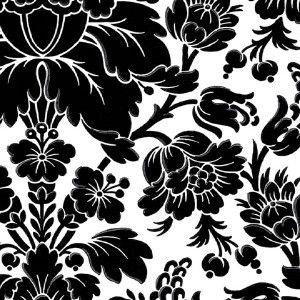 Wallpaper Large Black White Baroque Damask Modern Retro