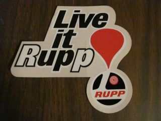Live It Rupp Sticker decal mini bike snowmobile kart roadster