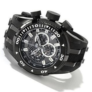 Invicta 0979 Reserve Mens Bolt Charcoal Dial & Black Strap Chronograph