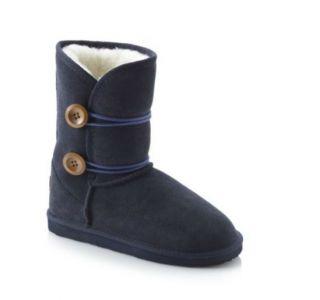 Ukala Emu Blue Suede Amelia Boots Merino Wool Girls 3 Youth Big Girls