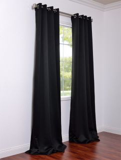 jet black grommet blackout curtains drapes luxurious affordable custom