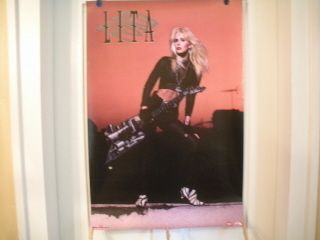 Vintage Lita Ford RCA promo poster 1991 BMG Music