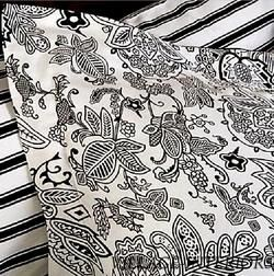 500TC COTTON BLACK & WHITE TOILE QUEEN DUVET COMFORTER COVER SET