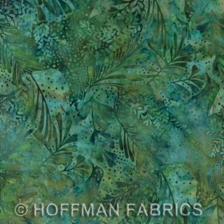 Hoffman Bali Batik Handpaints Bluegrass Leaves Fabric Quilt Yard