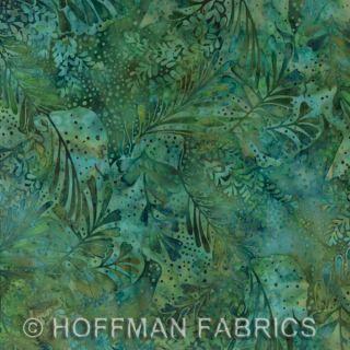 Hoffman Bali Batik Handpaints Bluegrass Leaves Fabric Quilt Yard
