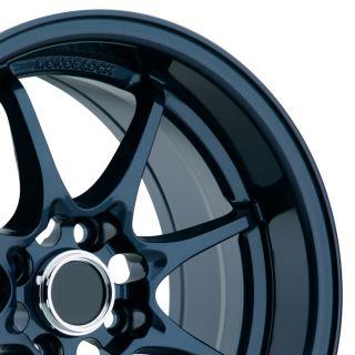 Konig FlatOut 15x8 4x100 ET25 Blue Wheels Fit Civic SI Integra Fit