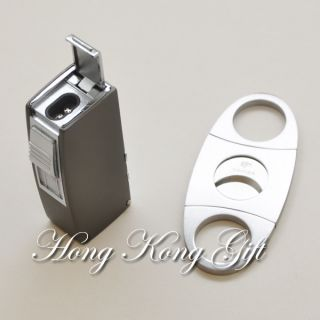 Cigarette Lighter 3 Size Punch Cutter Double Blades Knife Windproof
