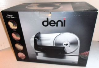 Deni Electric Food Slicer Model 14150 New
