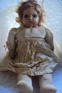 VINTAGE COMPOSITION DOLL MOVING EYES HAS HAIR 22
