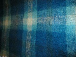 ROBERT BURNS MOHAIR RUG Tartan Plaid BLANKET THROW 68X52 Fringe from