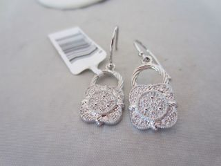 CHARRIOL 18K White Gold Flamme Blanche Diamond Drop Earrings nwt 1495