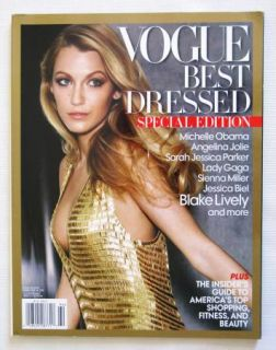 Vogue Best Dressed Blake Lively, Michelle Obama Lady Gaga Special