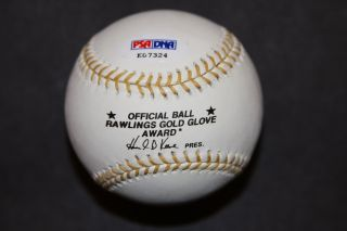 Bob Gibson Autographed Rawlings Gold Glove Baseball St Louis Cardinals