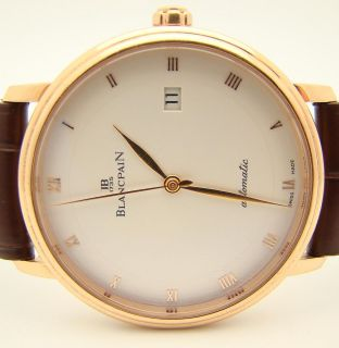 Blancpain Villeret Ultra Slim Date 18K Rose Gold 38mm Watch Numbered
