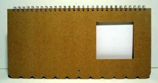 MBI BLANK Scrapbooking CALENDAR PAGES KIT 15x7 w/PHOTO WINDOW