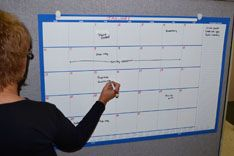 Large Blank Monthly Dry Erase Wall Calendar with Marker Write on Wipe
