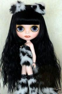 Blythe Doll Wigs Black Petit Curl Long Wig