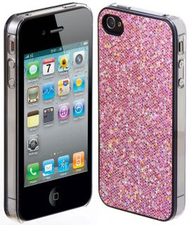 NEW PINK BLING HARD CASE COVER FOR APPLE IPHONE 4 4S 4G 4GS 4th
