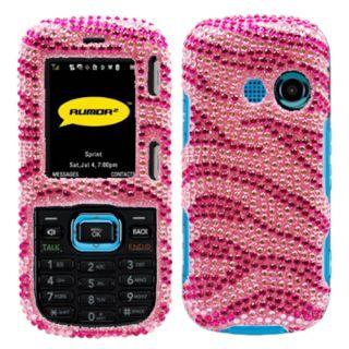 LG Rumor 2 LX265 Cosmos VN250 Pink Zebra Bling Case