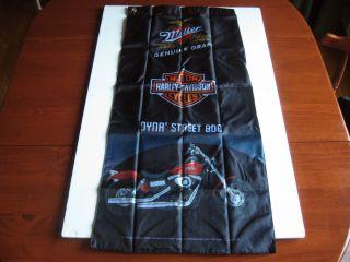MILLER GENUINE DRAFT HARLEY DAVIDSON DYNA STREET BOB BANNER FLAG