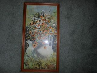 Framed Print Flowers and Water Pitchers Carolyn Blish