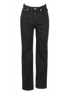 Blk DNM Womens High Waisted Straight Leg VRCK Black Jeans 26 $190 New