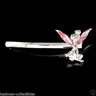 Bell w Swarovski Austrian Crystal Tinkerbell Hair Jewelry Bobby Pin